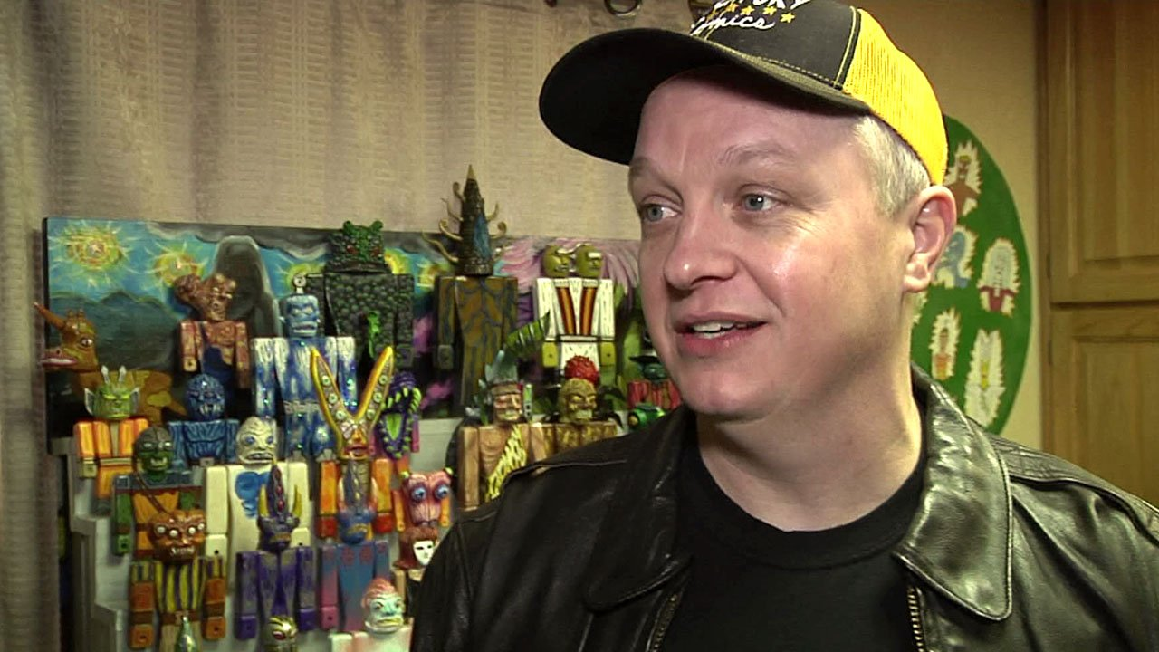 "Chance Priest calls his creations ""art toys."" (KTEN)"