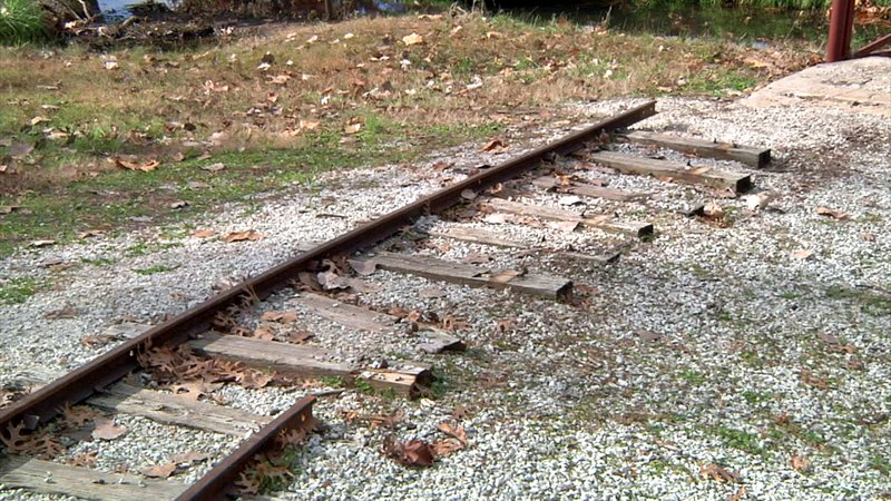 The tracks for the Polar Express ride in Wintersmith Park were washed out by heavy rain. (KTEN)