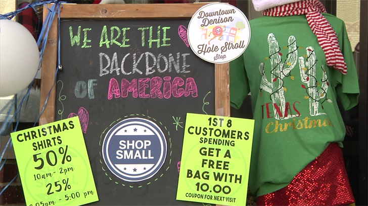 Denison Businesses promote shopping local during Small Business Saturday (KTEN)