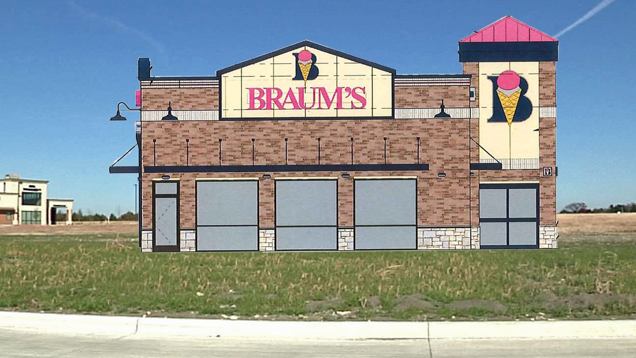 A new Braum's restaurant is planned for the Sherman Crossroads development. (KTEN photo illustration)