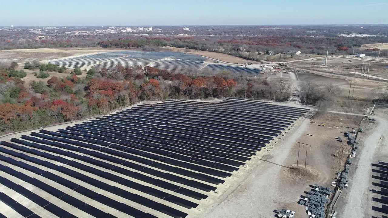 Sherman's solar energy farm is nearing completion. (Courtesy)
