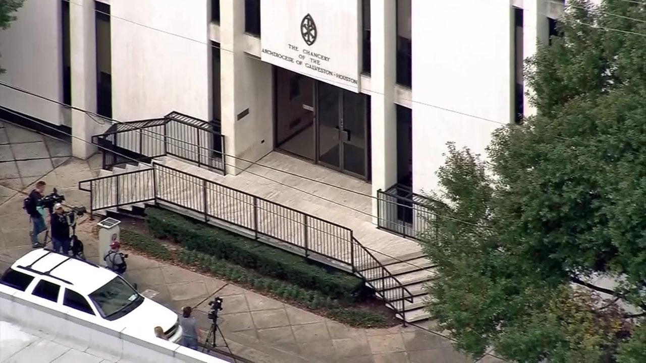 Investigators raided the Houston-Galveston Archdiocese on November 28, 2018. (KPRC via CNN)