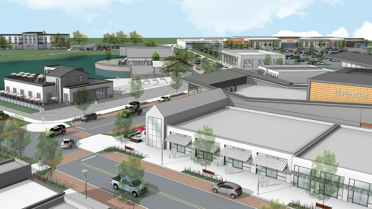 An artist's conception of retail development at Gateway Villlage. (Courtesy Venture Commercial)