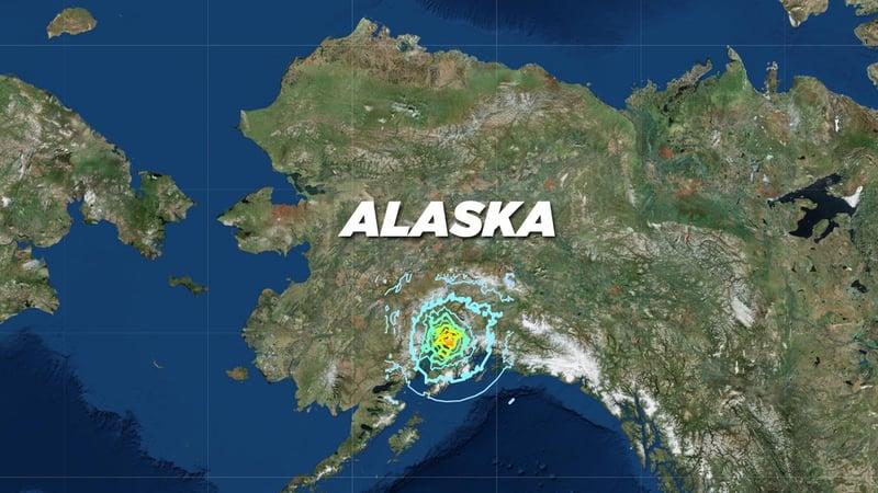 Map locates epicenter of earthquake near Anchorage, Alaska, on November 30, 2018. (USGS)
