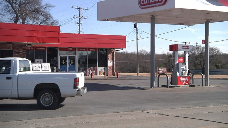 Ardmore police identified two men involved in a violent confrontation at this convenience store. (KTEN)