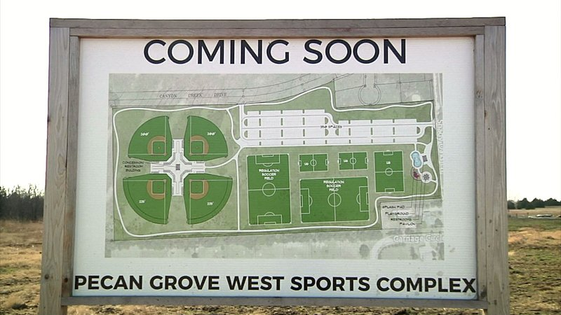 Phase one of the Pecan Grove West Sports Complex is expected to be ready by 2020. (KTEN)