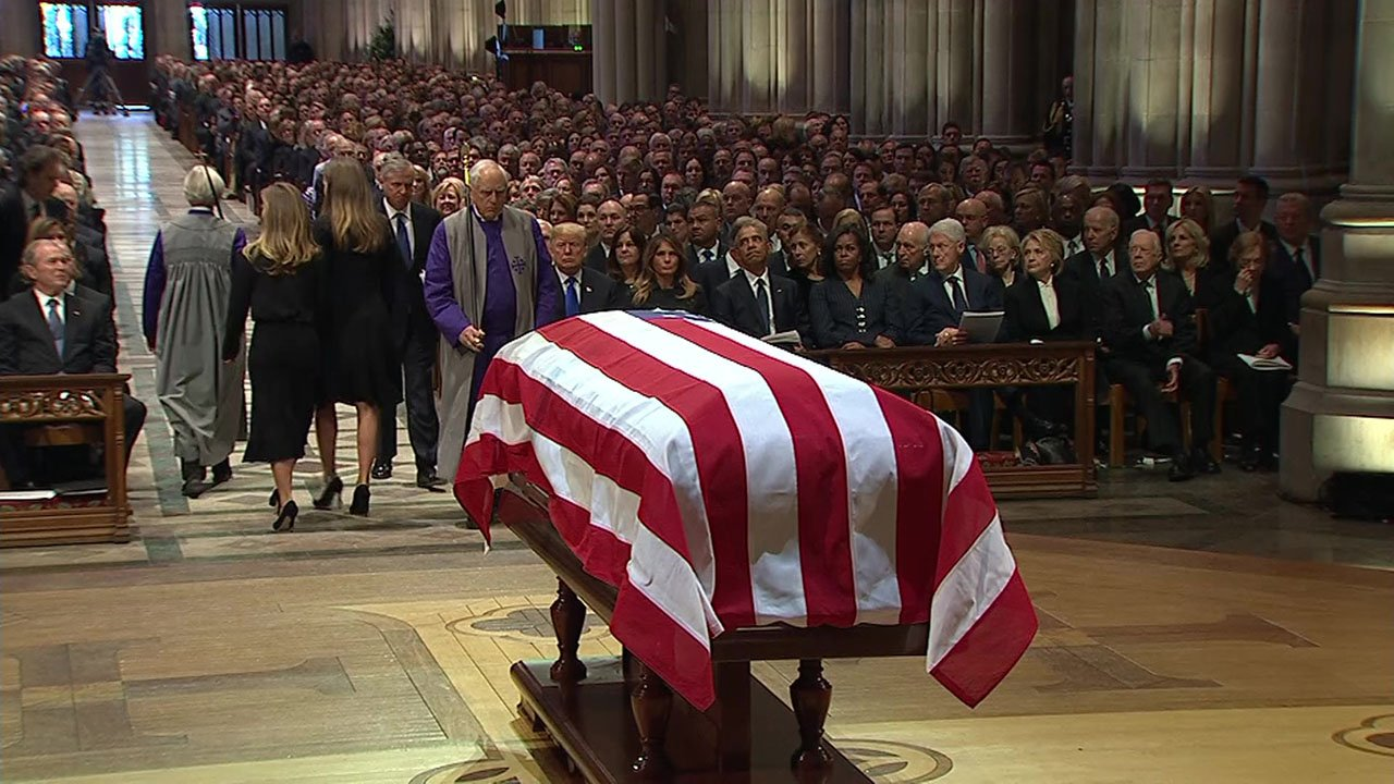 The memorial service for President George H.W. Bush. (CNN/Pool)
