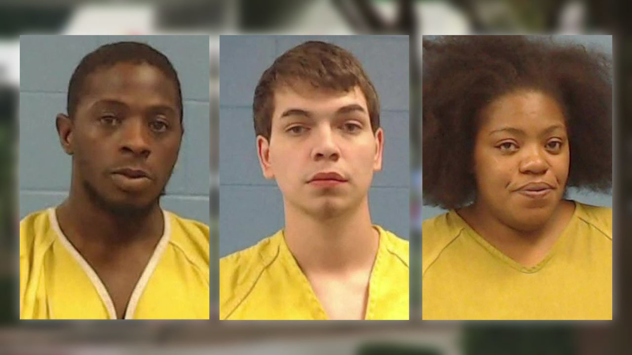 Three fast food employees in Taylor, Texas, were arrested after an ecstasy pill was found in a hamburger wrapper. (KXAN via NBC News)