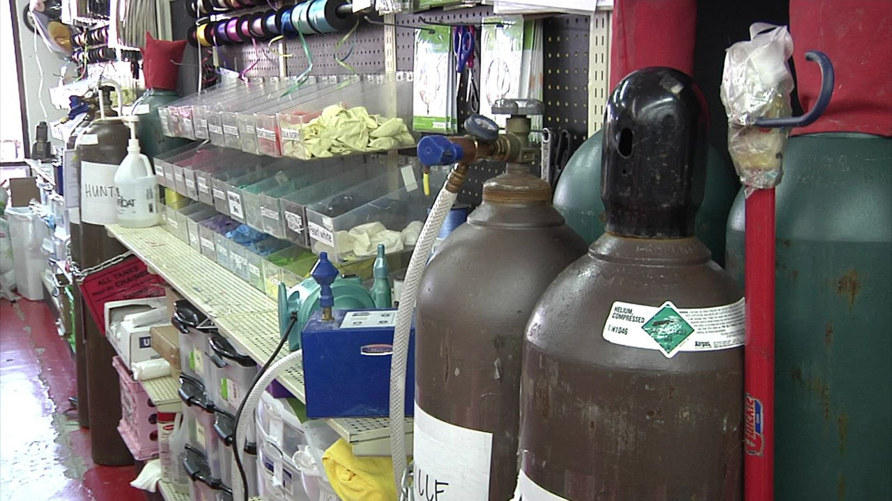 There is a shortage of helium, the gas used to inflate party balloons. (KTEN)