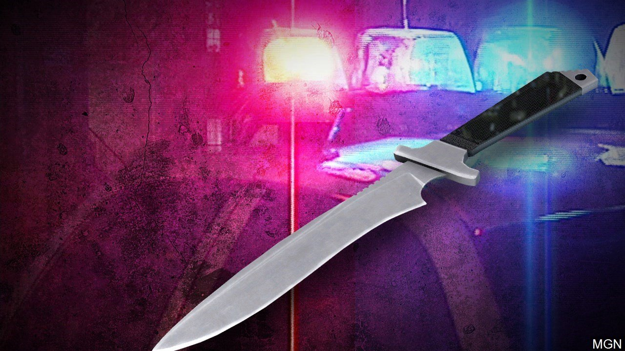 One person is in the hospital after being stabbed in a home in Denison.