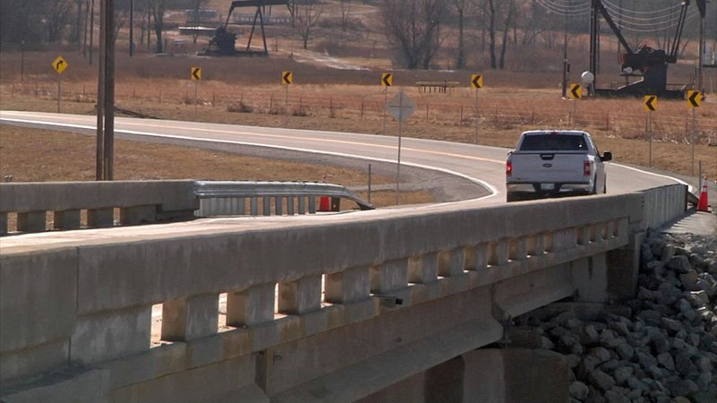A new bridge on Midway Road in Wilson removes a hazardous low-water crossing. (KTEN)