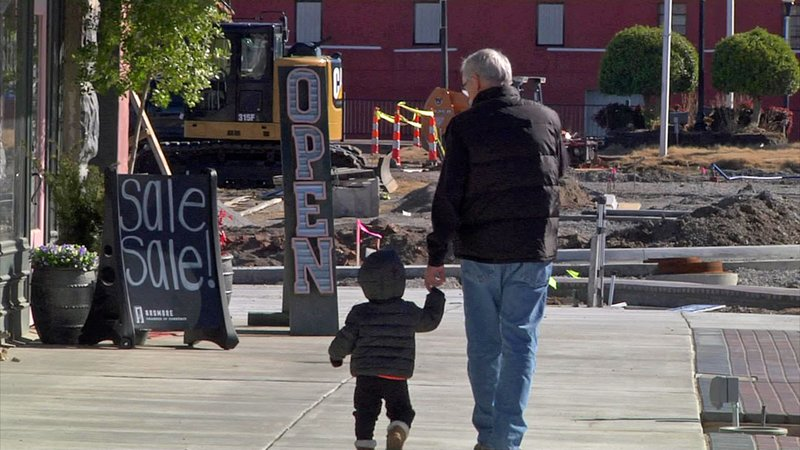 The first phase of Ardmore's streetscape project is nearing completion. (KTEN)