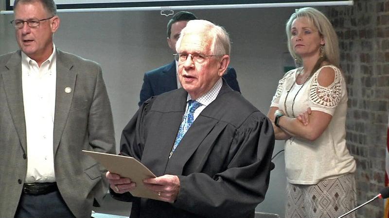 Van Alstyne Municipal Judge Thomas Redwine was honored on January 8, 2019. (KTEN)