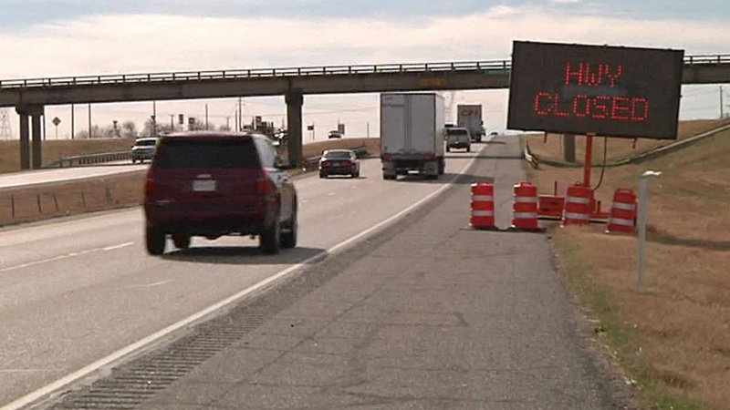 U.S. 75 will close at FM 455 for traffic realignment. (KTEN)