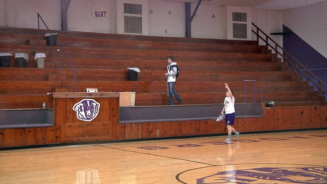 The aging Elmore City-Pernell gymnasium would be replaced if voters OK a bond issue. (KTEN)
