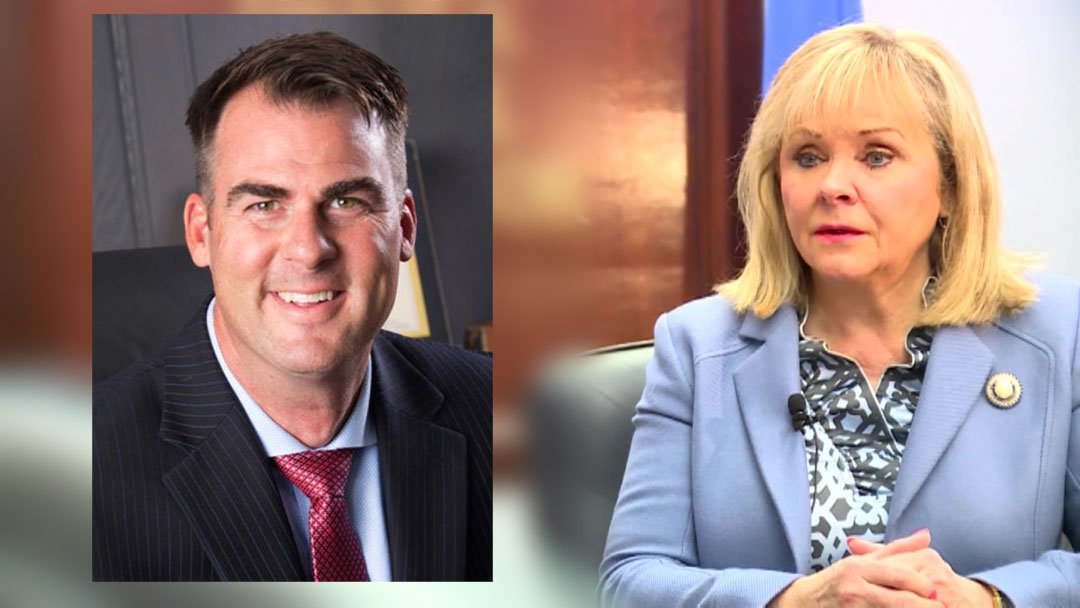 Kevin Stitt and Mary Fallin