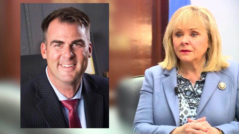 Kevin Stitt and Mary Fallin