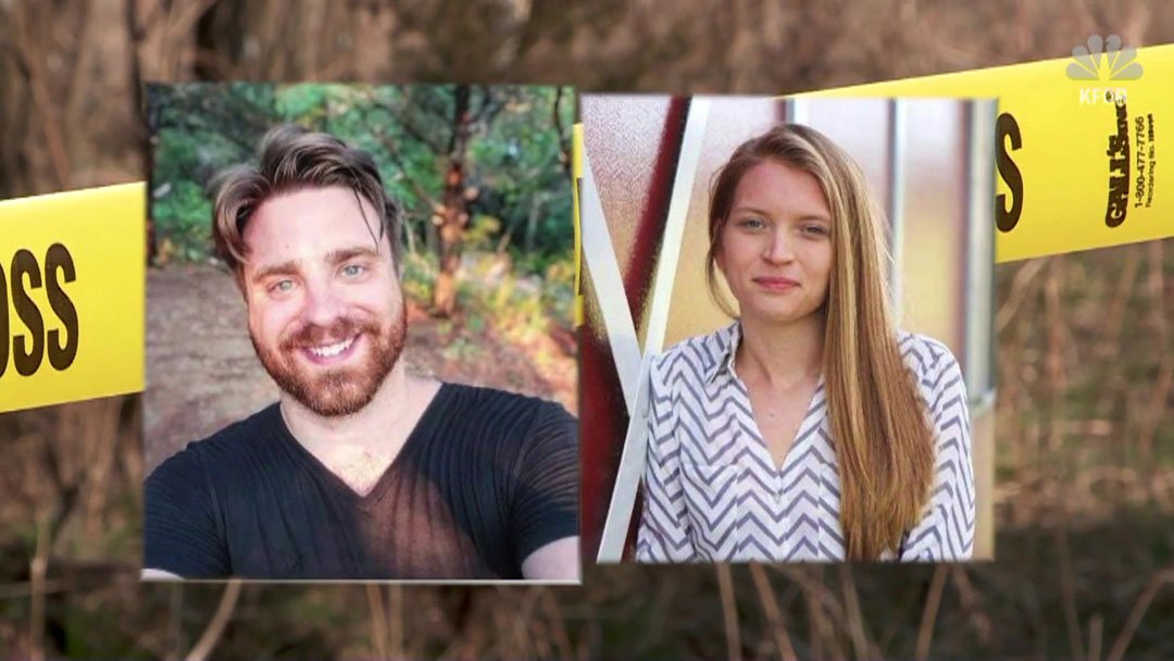 The bodies of Michael Swearingin and Jenna Scott were discovered in a shallow grave near Okemah, Okla. (KFOR)