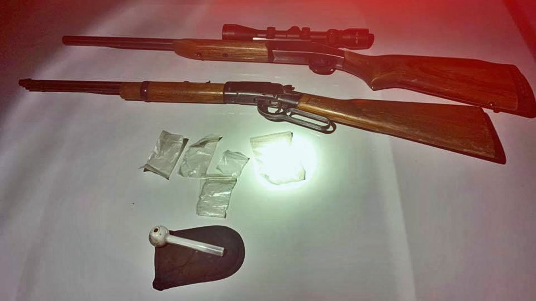 Weapons and drugs recovered in an arrest on January 23, 2019. (Facebook/Johnston County Sheriff)