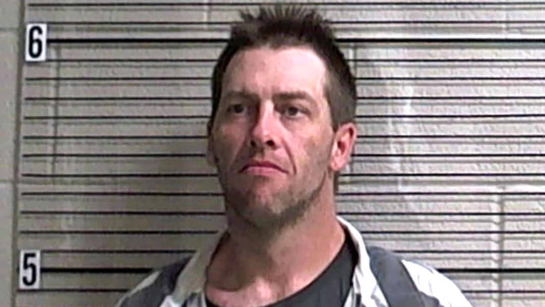 Thomas McQueary was wearing a GPS tracker when he was arrested in connection with a Madill burglary. (Marshall County Jail)