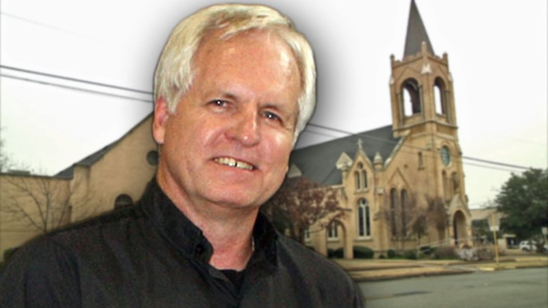Father Jeremy Myers was a fixture at St. Mary's Catholic Parish in Sherman for more than two decades. (KTEN)