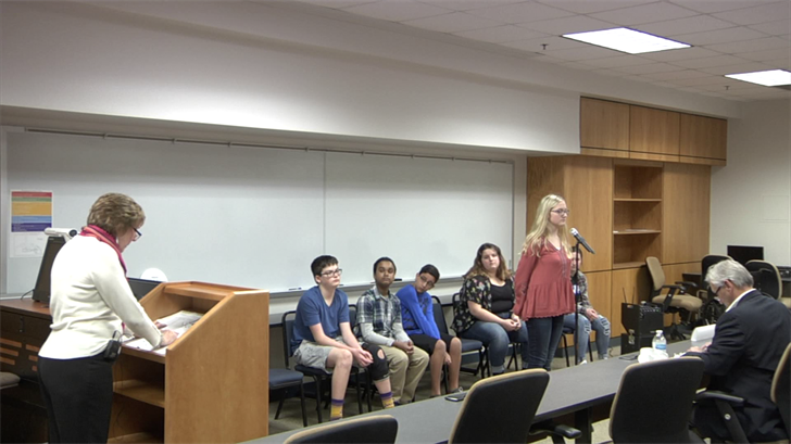 Grayson County students compete in the 2019 spelling bee