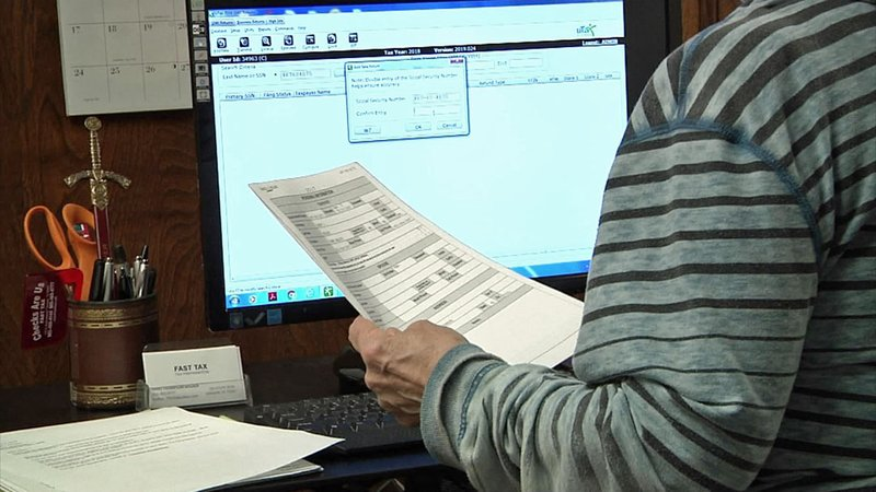 Some taxpayers are getting smaller refunds this year. (KTEN)