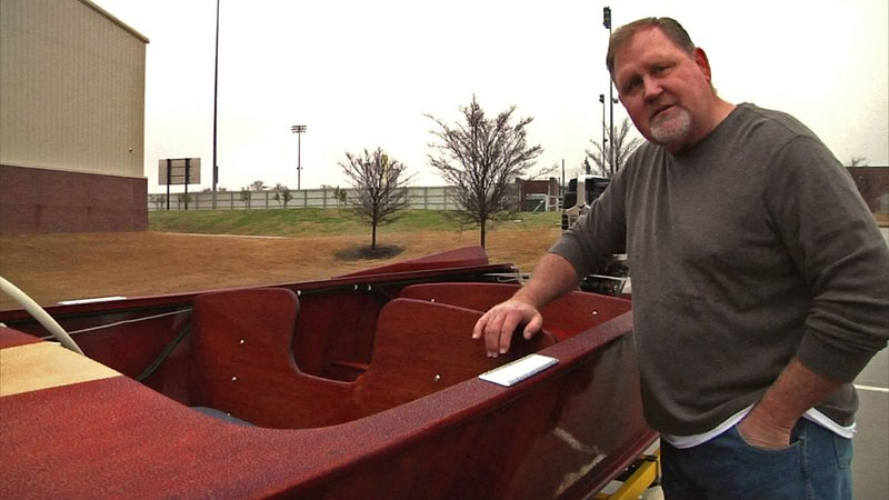 Dennis Cheatham's father helped make Yellow Jacket boats in Denison. (KTEN)