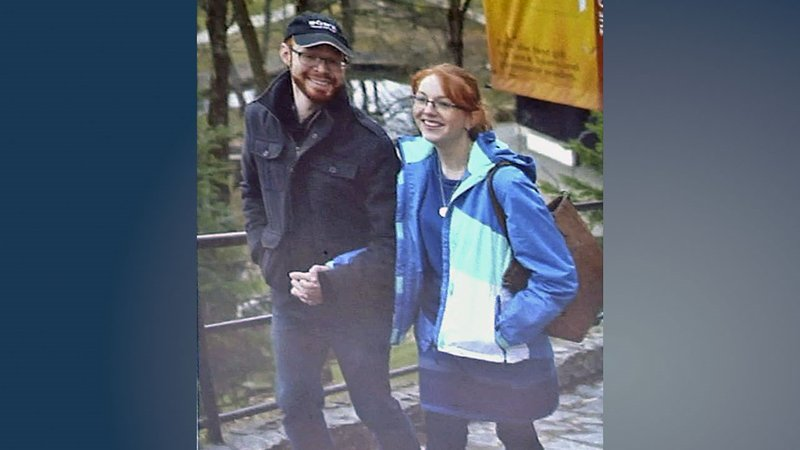 Kaleb George and Helen Lawrence met for the first time in Romania. (Courtesy)