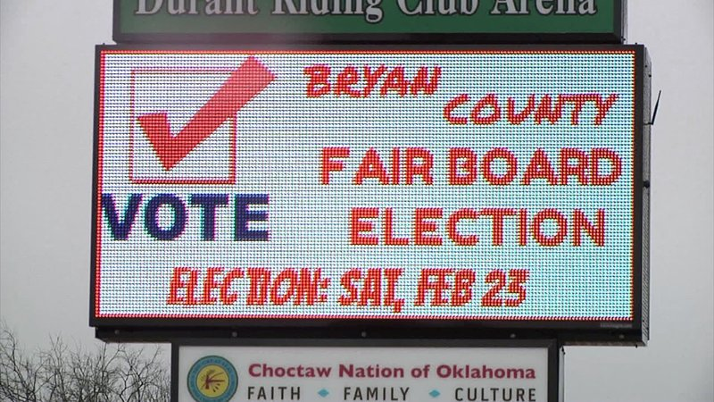 The Bryan County Fair Board Election is set for February 23, 2019. (KTEN)