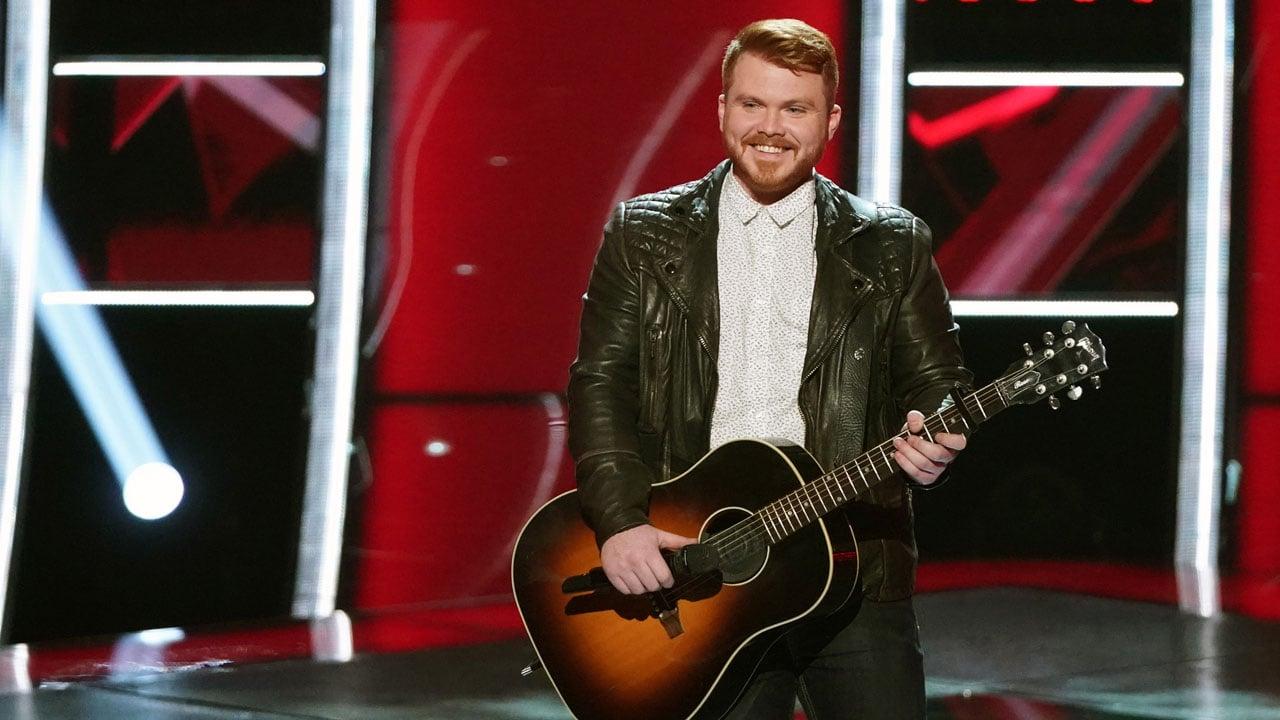 Hugo, Oklahoma, native Trey Rose performs on The Voice. (Tyler Golden/NBC)