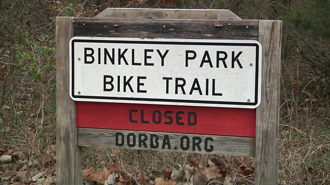 The Binkley Park Bike Trail in Sherman is recognized by the Dallas Off Road Bicycle Association. (KTEN)
