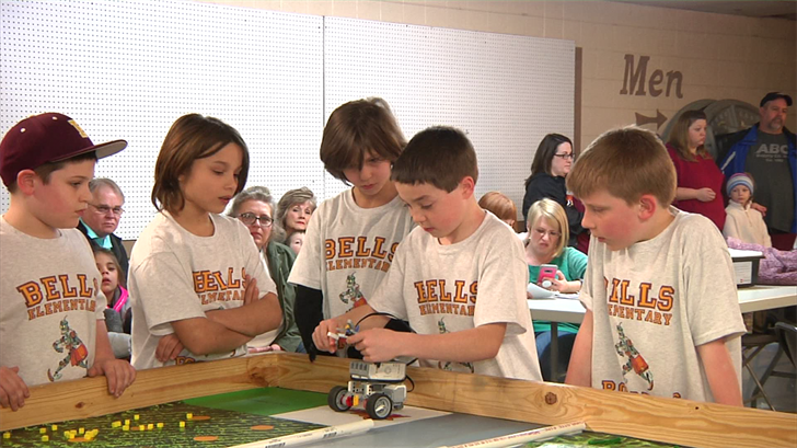 Students compete in a ag robotics competition hosted by Grayson County.