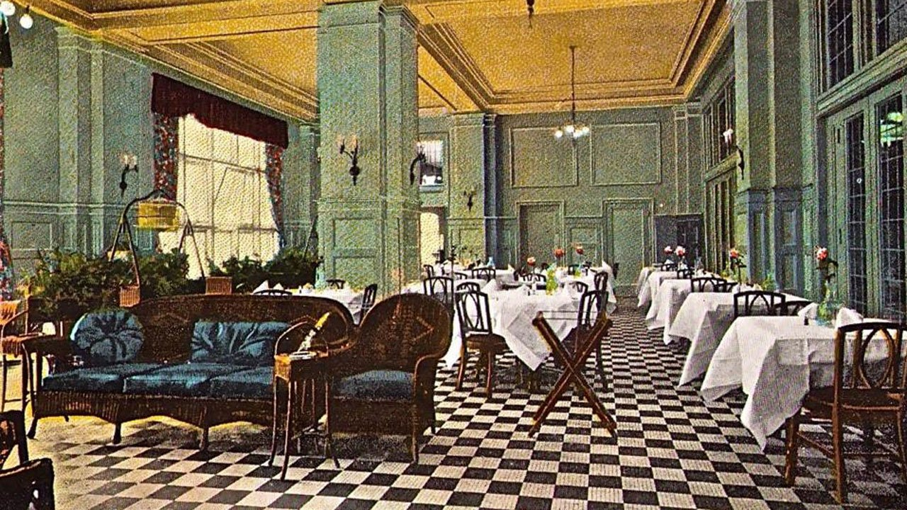 A postcard depicts the former glory of the Hotel Denison. (Facebook)