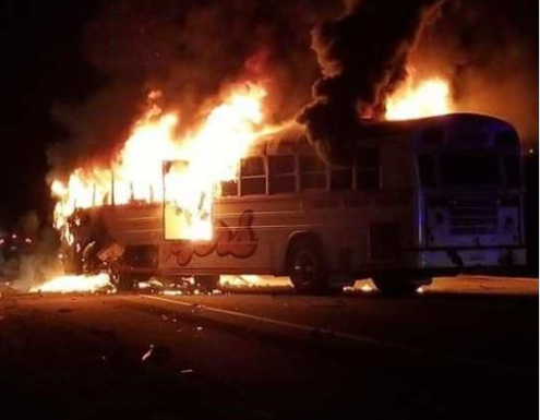 three people are dead including a child after a head-on bus crash.