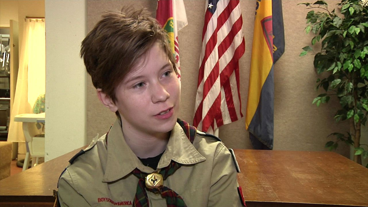 Kaydence Hayes has a goal of becoming an Eagle Scout in Denison's new Scouts BSA all-girl troop. (KTEN)