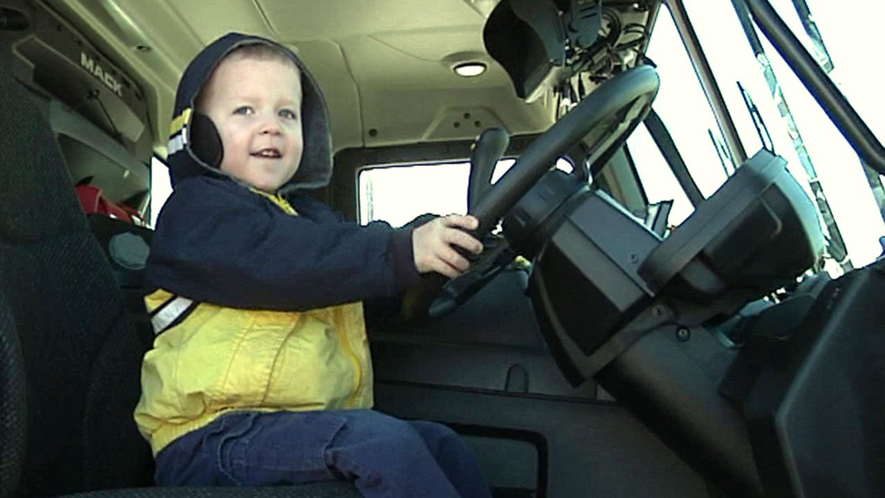 Kids had fun at Denison's Touch-a-Truck event at Texoma Health Foundation Park. (KTEN)