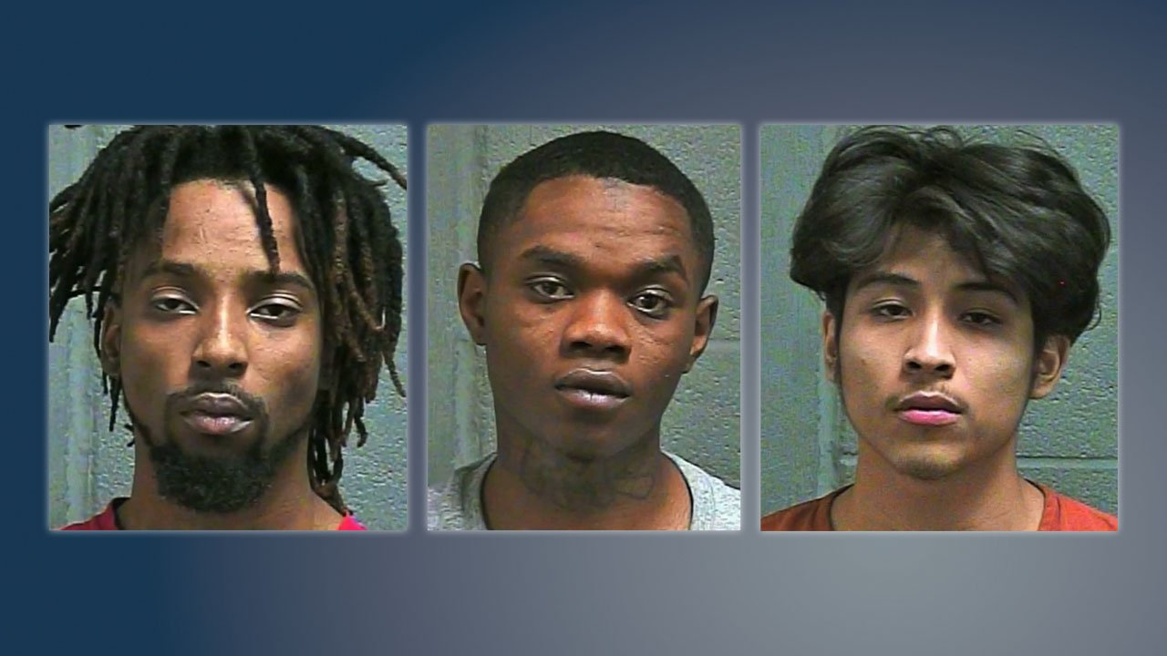 (L-R) Elijah Wilson, Jonate Jefferson and Seth Tisho were arrested in connection with Jake McClain's murder. (Oklahoma County Sheriff)