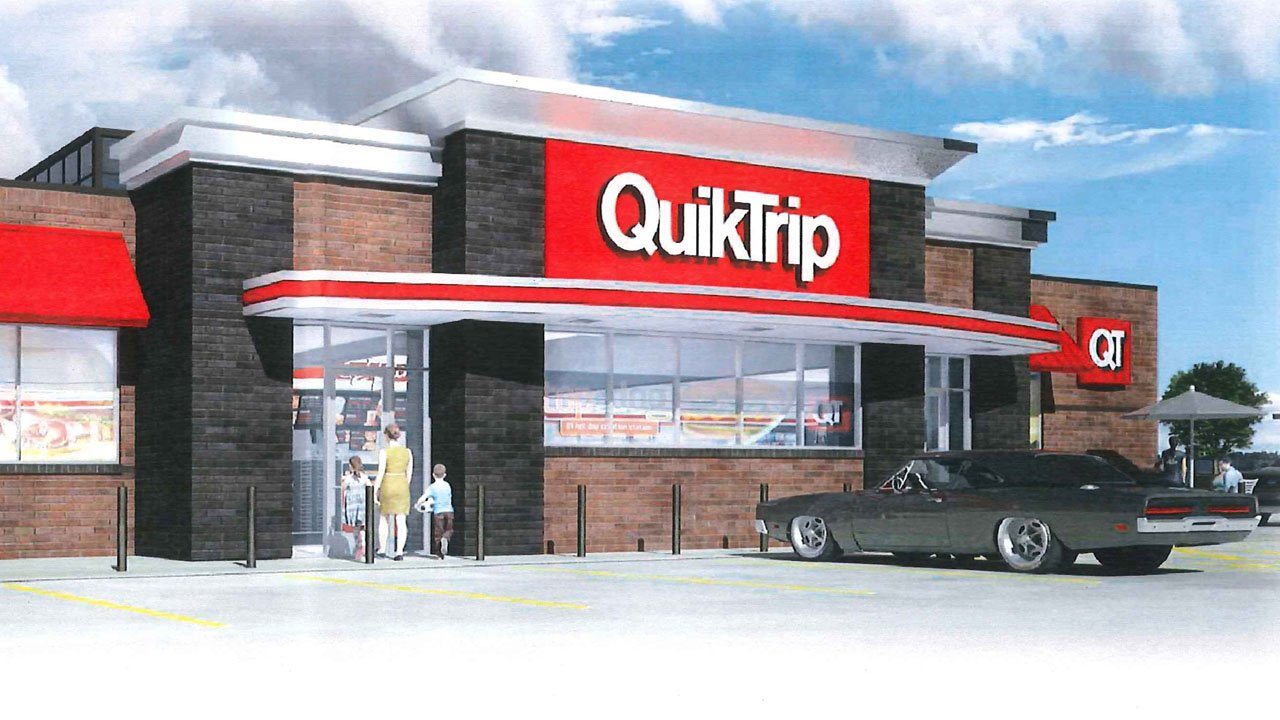 An artist's rendering of Sherman's second QT convenience store at US 75 and FM 1417. (Sherman City Council)