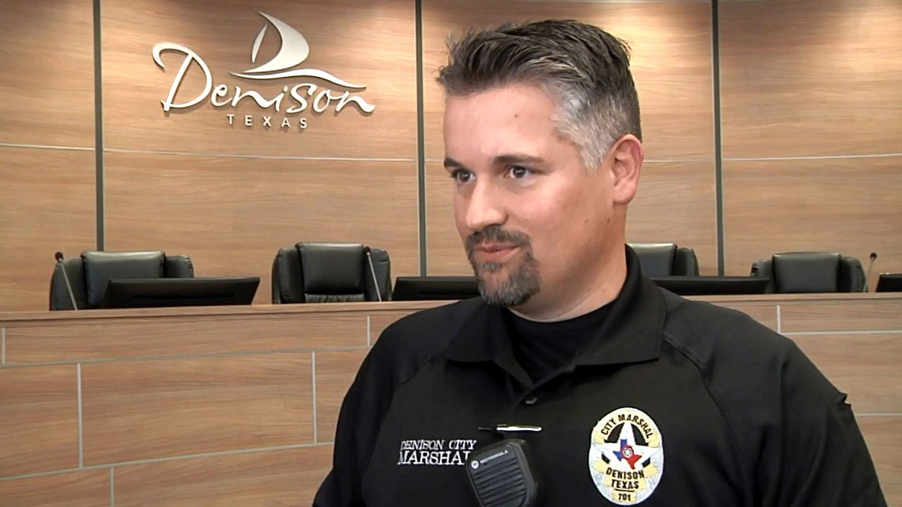 Eric Newton is Denison's first City Marshal since 2011. (KTEN)