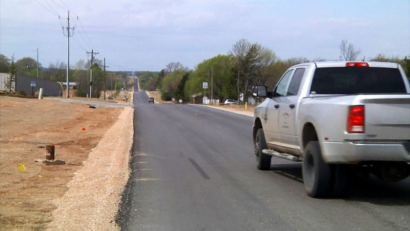 Pontotoc County is upgrading County Road 1570 southwest of Ada. (KTEN)