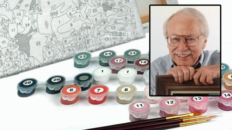 Dan Robbins is credited with inventing paint-by-numbers.