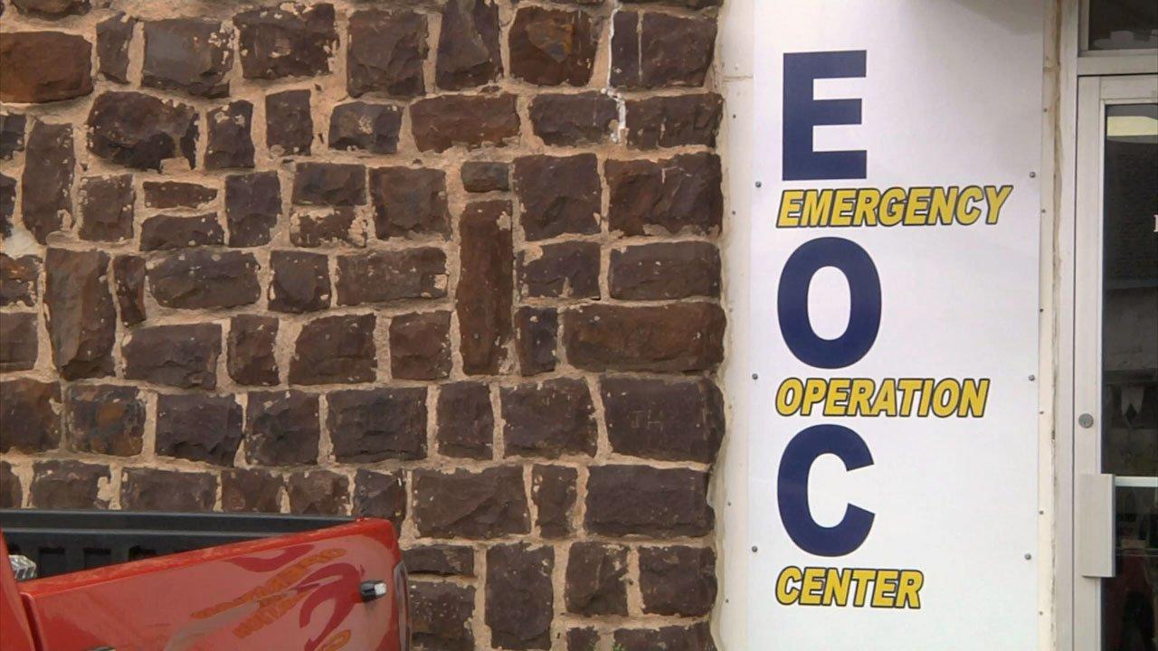 The Marshall County Emergency Operation Center in Madill. (KTEN)