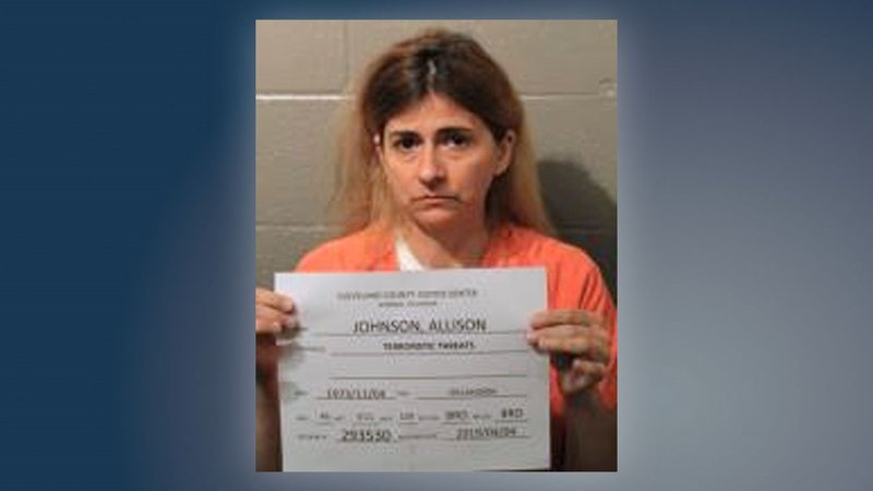 Allison Johnson was arrested in connection with racist, anti-gay and anti-Semitic graffiti. (Cleveland County Detention Center)