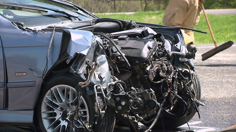 Two motorists were injured when their vehicles collided on State Highway 289 in Sherman on April 5, 2019. (KTEN)