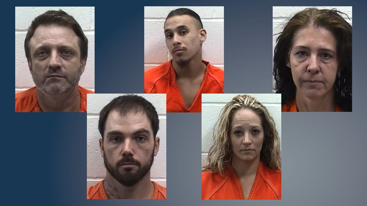 Five suspects were arrested in two Ada drug busts. (Pontotoc County Sheriff)