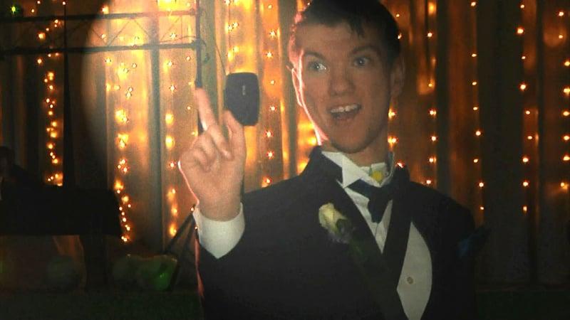 Bradford Greer enjoys a dance at the Hugo High School prom on April 6, 2019. (KTEN)