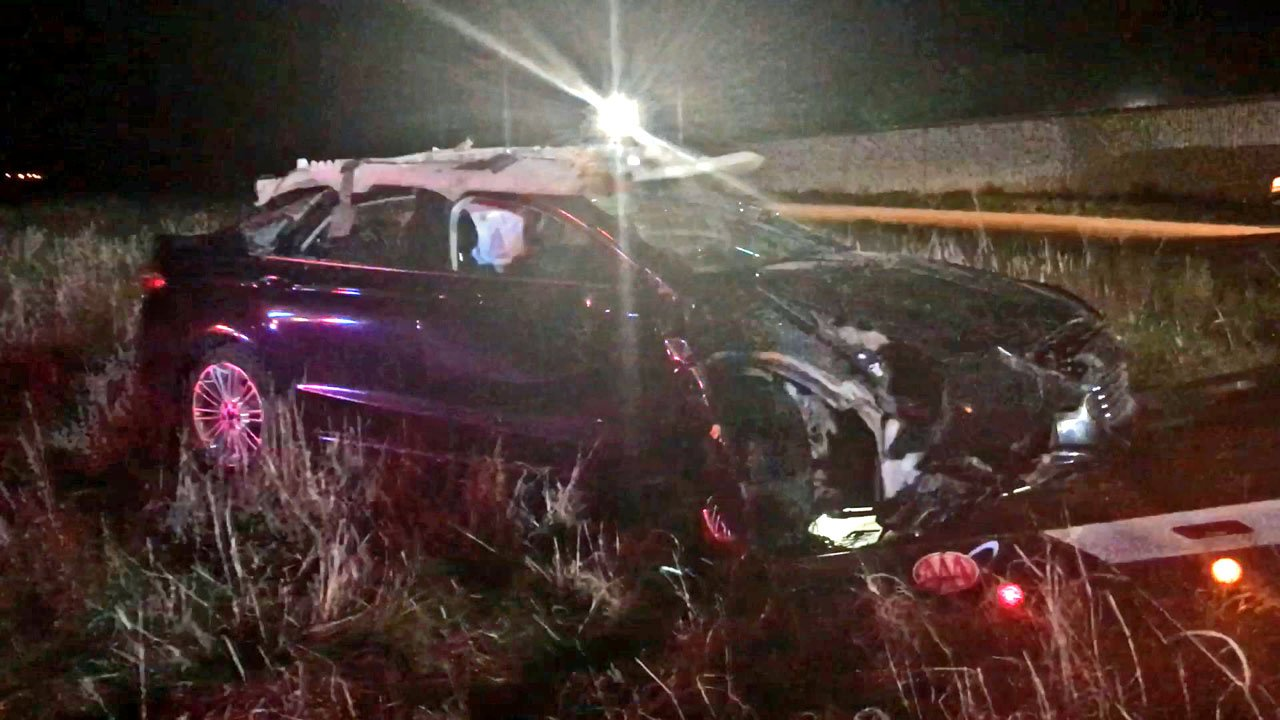 Madill police said Andra McQueen crashed his vehicle during a high-speed pursuit on US 70. (Madill PD photo)