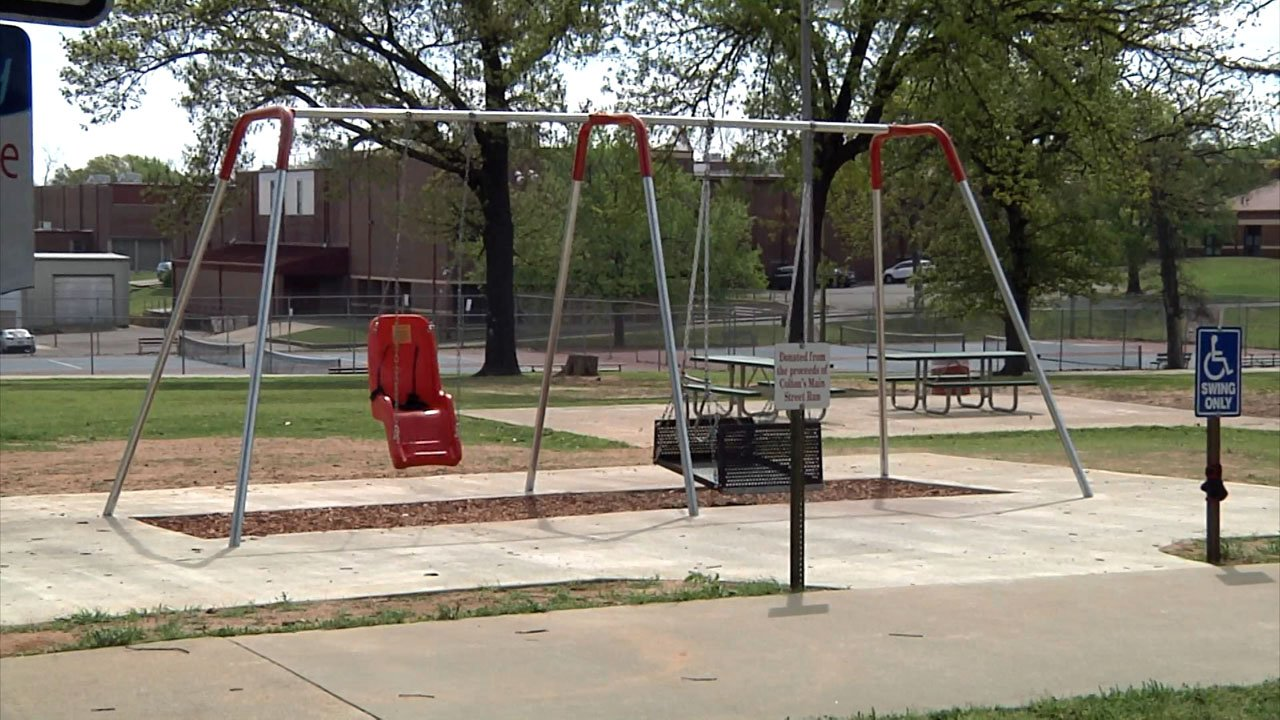 Durant has plans to add special needs swing sets at two more city parks. (KTEN)