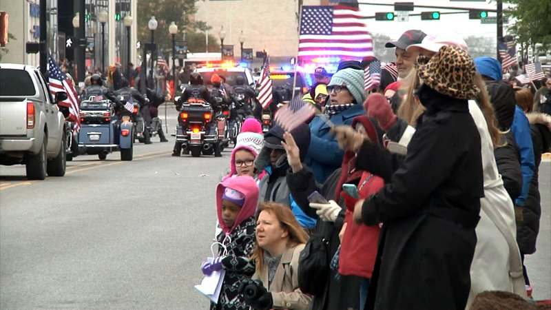A scene from Gainesville's Medal of Honor Parade in 2018. (File/KTEN)